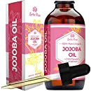 Jojoba Oil by Leven Rose - Pure Cold Pressed Natural Unrefined Moisturizer for Skin Hair and Nails - 4 oz