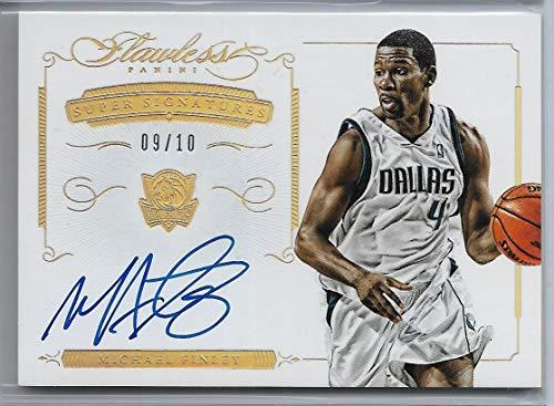 Gold Auto Signature - 2013-14 Panini Flawless Basketball Michael Finley Super Signature Gold Auto Card # 9/10