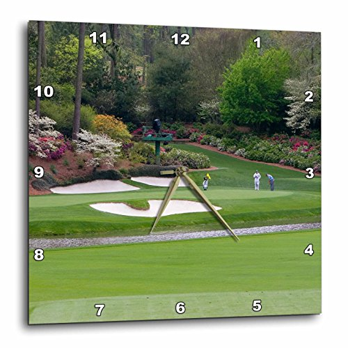 3dRose dpp_48684_3 Augusta's Amen Corner Golf Course Where Dreams are Made and lost Wall Clock, 15 by 15-Inch (Fifteen Light Augusta)