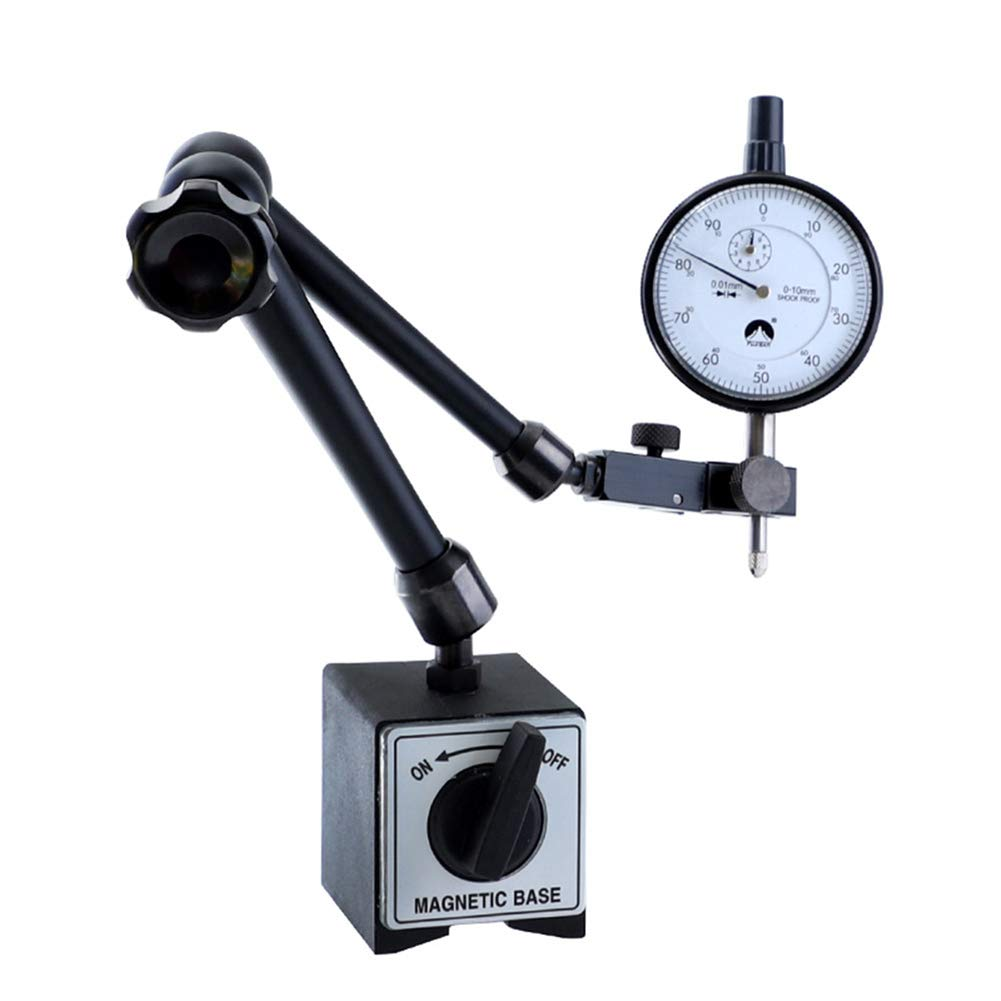 SPECIAL PRICE NEW MAGNETIC BASE WITH  DIAL INDICATOR 0-10MM 0.01MM