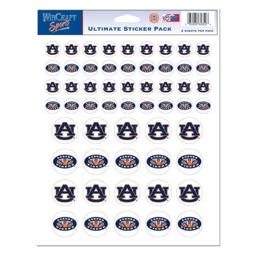 WinCraft NCAA Auburn University Vinyl Sticker Sheet, 8.5