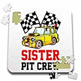 Carsten Reisinger - Illustrations - Pit Crew Sister Funny Car Race Theme Birthday Party Host - 10x10 Inch Puzzle (pzl_275703_2)