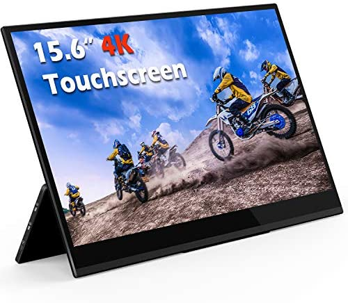 4K Portable Monitor Touchscreen 15.6 Inch UHD 3840×2160 Gravity Sensor Automatic Rotate Game Monitor IPS Eye Care Metal Frame Dual USB with HDMI Type C Speakers for Laptop PC PS4 Xbox Mac Phone 519bF605pZL