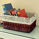 storage basket/ rattan storage box/Desktop snack debris basket in the kitchen-D 27x17cm(11x7inch)