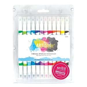Artiste Dual Tip Brush Markers 12/Pkg