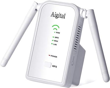Oferta amazon: Repetidor de WiFi 300Mbps en 2.4GHz WiFi Extensor Amplificador Largo Alcance Modo Punto de Acceso/Repeater/Router con on 2 Antenas Externo, Puerto Ethernet, Botón WPS y Fácil de configurar