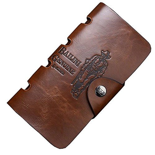 Dreambox USA Classic Vintage BALINI Cowboy Pattern Bifold Men PU Leather Wallet