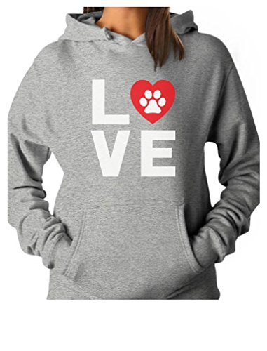 TeeStars - Animal Lover Dog Paw Print - Love Dogs My Best Friend Women Hoodie