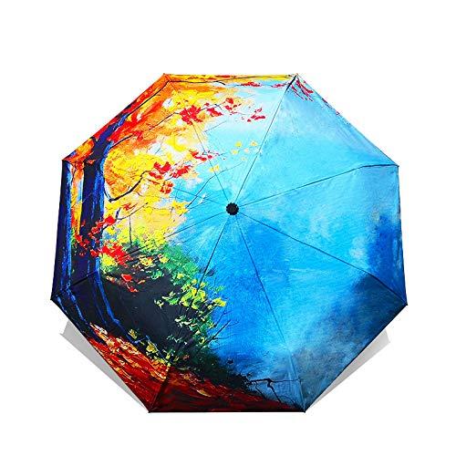 Ynebwcie Arte Chino Paraguas de Sakura Mujer Van Gogh Pintura ...