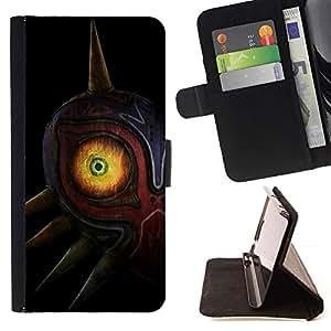 Momo Phone Case / Flip Funda de Cuero Case Cover - Resumen Totem máscara de ojo;;;;;;;; - HTC One Mini 2 M8 MINI