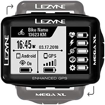 Lezyne Mega XL Bicicleta Negro rastreador GPS - Rastreadores GPS (6,86 cm (2.7