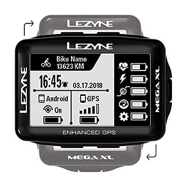 Lezyne Mega XL Bicicleta Negro rastreador GPS - Rastreadores GPS ...