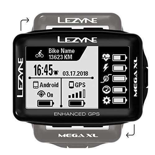 Lezyne Mega XL Bicicleta Negro rastreador GPS - Rastreadores GPS (6,86 cm (2.7'), 35,3 x 58,8 mm, 240 x 400 Pixeles, Monocromo, 33,3 dí a(s), Recargable) 86 cm (2.7) 3 día(s) 1-GPS-MEGAXL-V104