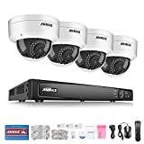 ANNKE 8 Channel Network NVR Security System, 6.0MP Surveillance NVR Recorder with 4 x IP HD Outdoor IP Camera, Motion Detection, NO HDD