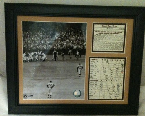 - 11x14 Framed & Matted 1951 World Series Shot Heard Round The World Brooklyn Dodgers New York Giants Bobby Thomson Ralph Branca 8X10 PHOTO