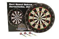Dartscheibe Ø 45cm beidseitig bespielbar Dartboard inkl. 6 Dartpfeile...