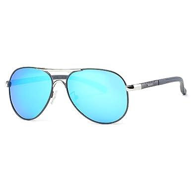 Kimorn Polarisé Lunettes De Soleil Hommes Rétro Métal Cadre 5 Couleurs Des lunettes K0553 (Marron) oybxMWH8