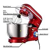 Aucma Stand Mixer,6.5-QT 660W 6-Speed Tilt-Head