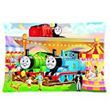 Cartoon Thomas and His Friends One Side Pattern Custom Queen Size 20x30 Pillow case 50% Cotton 50% Polyester