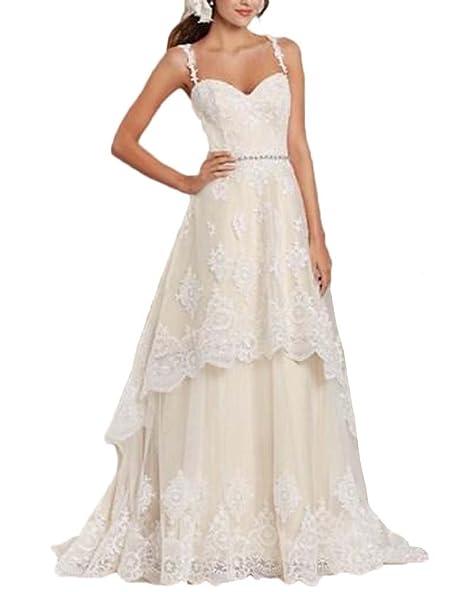 Amazon.com: jdress dos piezas vestidos de boda para ...