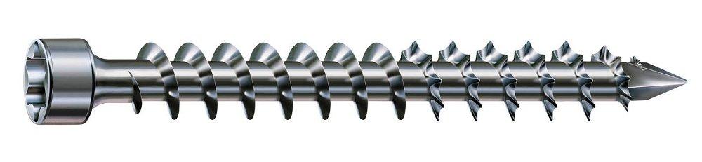 Zylinderkopf 50 St/ück SPAX Holzbauschraube T-STAR plus 1221010802005 Vollgewinde CUT-Spitze 8,0 x 200 mm WIROX A3J