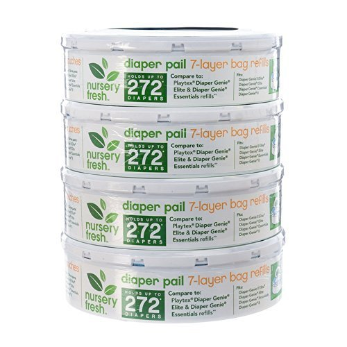 Nursery Fresh Refill for Diaper Genie 8 Pack, 2,176 Count by Nursery Fresh