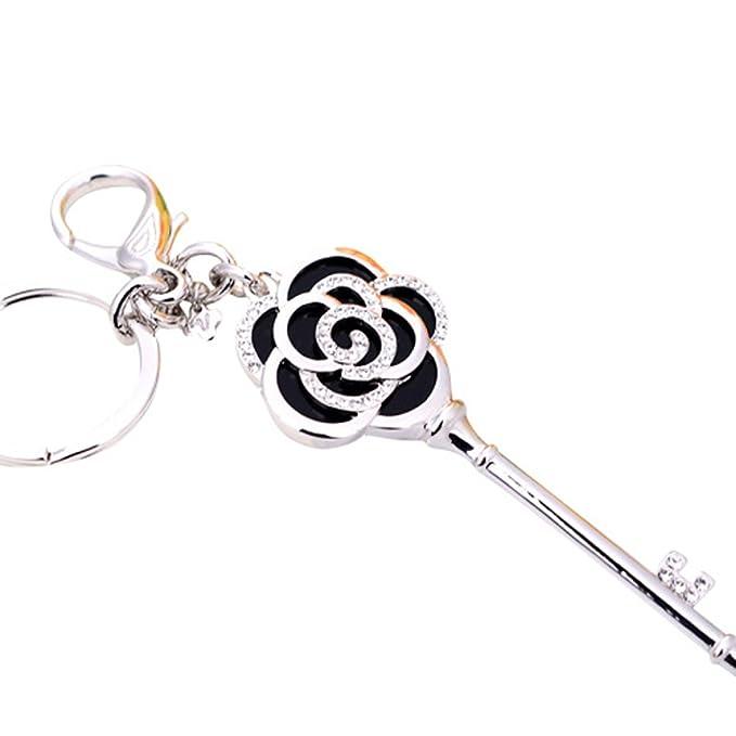 Amazon.com   Modogirl Flower Key KeyChain Women Key Ring White Gold Plated  Swarovski Crystal Elements   Office Products 99cd0214d