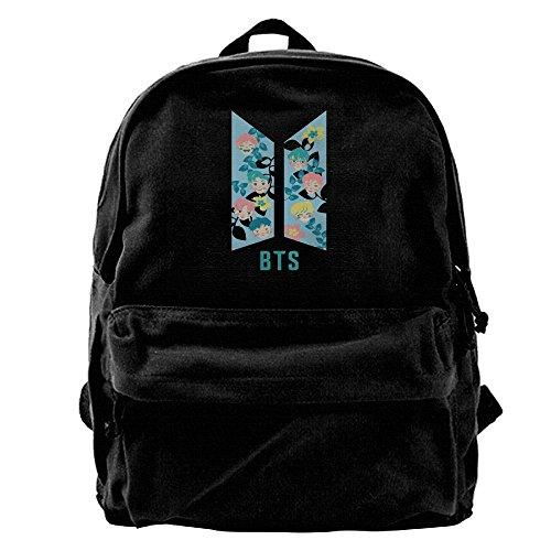 - HIUYHIOJXN Kpop BTS Bangtan Boys Canvas Backpack Travelling Bag School Bag