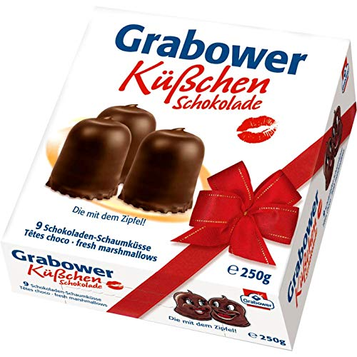 Grabower Kusschen German Chocolate Covered Marshmallow Kisses 250g / 8.8 Ounce ...
