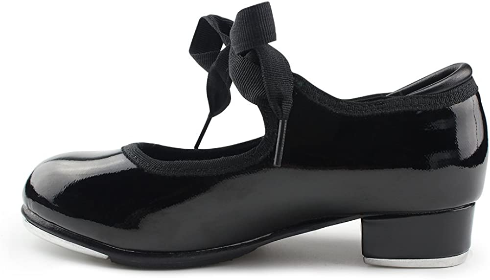 Little Kid//Big Kid//Women MSMAX Patent Character Mary Jane Flexible Dance Tap Shoes