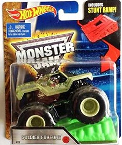 - Hot Wheels Monster Jam 1:64 Soldier of Fortune Vehicle with Stunt Ramp 9