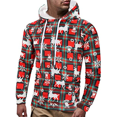 iHPH7 Mens Casual Christmas Printed Long Sleeve Pullover Sweatshirt Hoodie Coat Top]()
