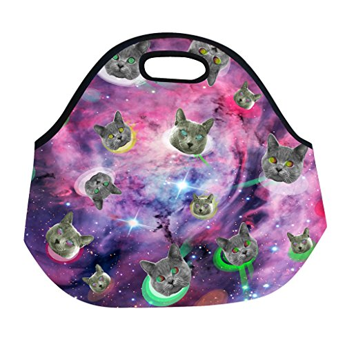 Funny Guy Mugs Space Cat Neoprene Lunch Tote