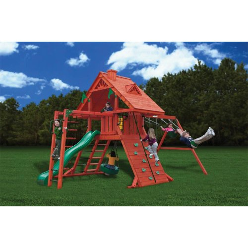 Gorilla Playsets Sun Palace II with Monkey Bars Playground System by Gorilla Playsets