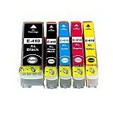 Tyjtyrjty 5 Pack Compatible Ink Cartridge Replacement for Epson 410XL 410 XL T410XL020 (1 Black, 1 Photo Black, 1 Cyan, 1 Magenta, 1 Yellow) for Epson Expression XP-830 XP-630 XP-530 XP-635 XP-640
