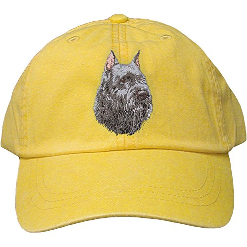 Cherrybrook Dog Breed Embroidered Adams Cotton Twill Caps - Lemon - Bouvier des Flandres