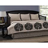 Fashion Bed Group QB0019 Ava 5-Piece Comforter and Pillow Sham Daybed Ensemble, Twin