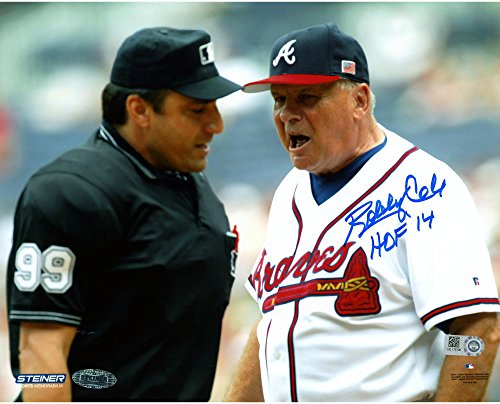 Bobby Cox Atlanta Braves Autographed 8″ x 10″ Yelling Photograph with HOF Inscription – Steiner Sports – Autographed MLB Photos