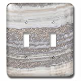 3dRose LSP_275120_2 Image of Trendy Gray Rock Gemstone Agate and Copper Glitter Toggle Switch, Mixed