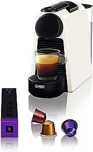 De'Longhi Essenza Mini Coffee Machine, White, EN85WSOLO