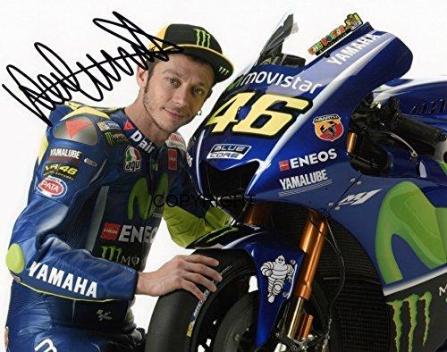 Limited Edition Valentino Rossi 2017 Moto GP unterzeichnet Foto Autogramm signiertsigniertes THEPRINTSHOP