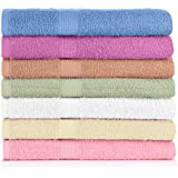 "Crystal Towels 7-Pack Bath Towels - Extra-Absorbent - 100% Cotton - 27"" x 52"""