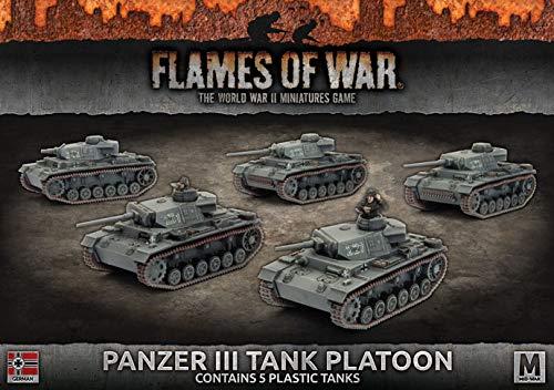 War German Panzer (Flames of War: Mid War: German: Panzer III Tank Platoon (GBX105))
