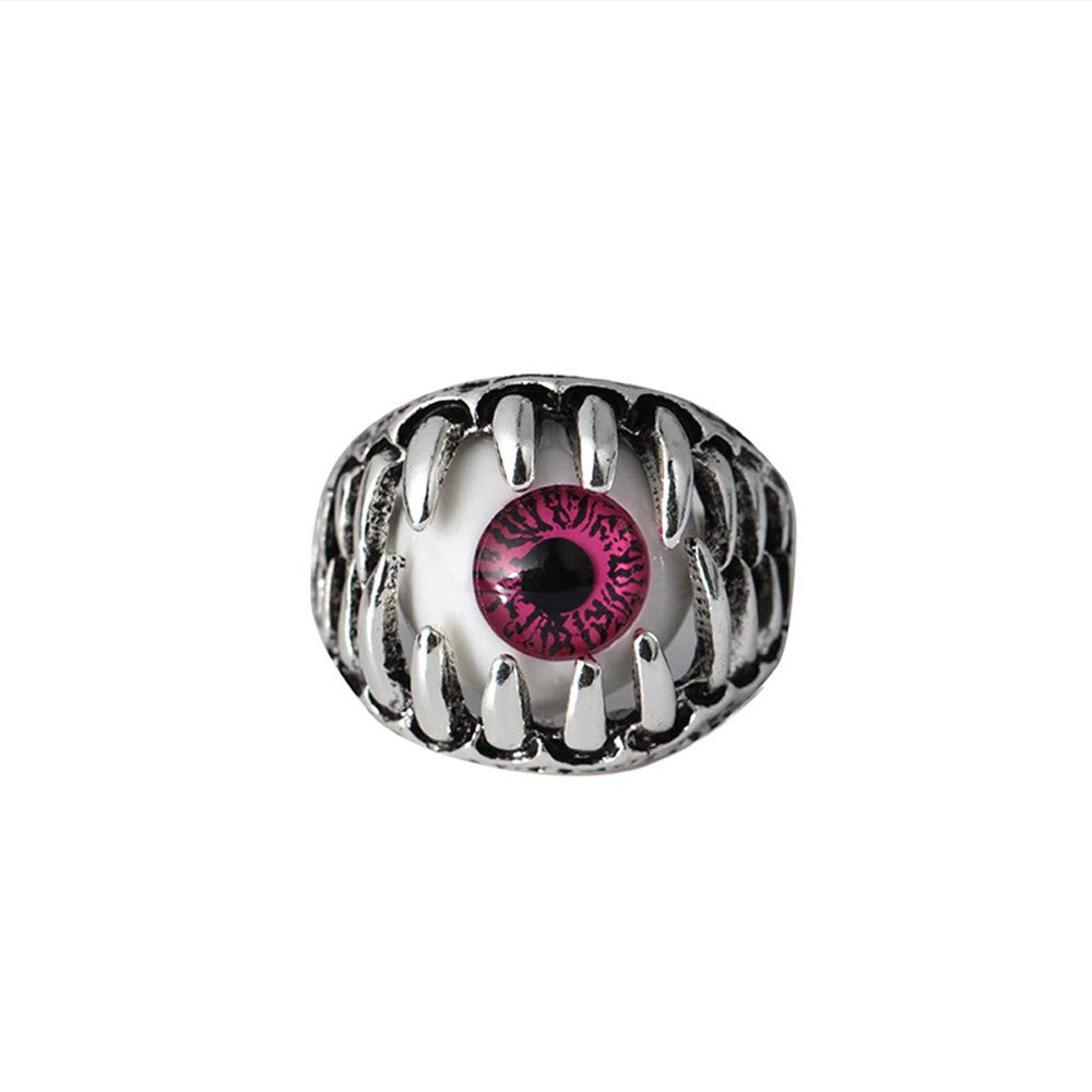 Domineering Exaggerated Personality Eye Ring Eyeball Ring Eyeball Ring Valentine's Day Gifts for Girlfriend Boyfriend (US Size)