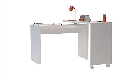 Indoor Multi Function Accent Table Study Computer Home Office Desk Bedroom  Living Room Modern Style