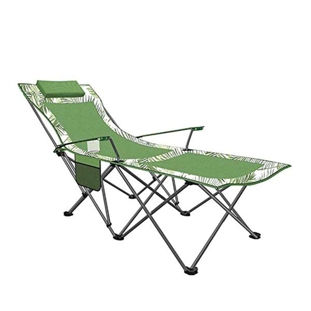 YYTLTY Camping Chairs Folding Lightweight Portable Outdoor Beach Chairs, Outdoor Recreation Recliner, Two Styles to Choose from (Color : Green1) by YYTLTY