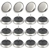 Chair Glides for Metal Chairs TOVOT 16 PCS 38mm Metal Furniture Chair Glide Nail-On Metal Glides for Carpet Floors