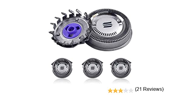 LEORX Premium Calidad Cabezales de repuesto para PHILIPS Norelco HQ8/HQ8894/HQ7160 afeitadoras -3pcs: Amazon.es: Belleza