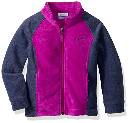 Columbia Girls' Little Benton Springs Fleece, Bright Plum/Nocturnal, X-Small