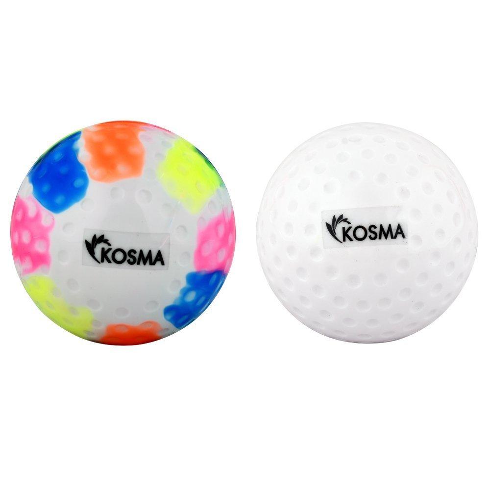 Kosma Lot de 2 PC Dimple Balles de Hockey | Sports de Plein air PVC Practise Ballon d'entraî nement multicolore set de 2) Montstar Global KG-22100